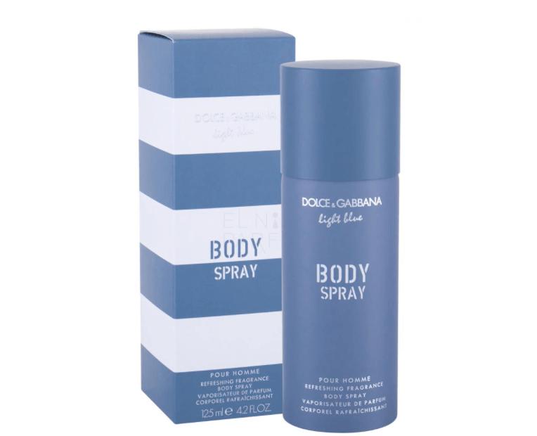 DOLCE & GABBANA LIGHT BLUE POUR HOMME Spray do ciała dla mężczyzn 125 ml